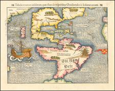 Western Hemisphere, North America, South America, Pacific and America Map By Sebastian Munster