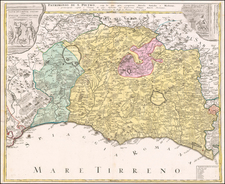 Northern Italy and Southern Italy Map By Homann Heirs
