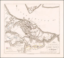 Plan of the Siege of York Town in Virginia By William Faden