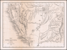 Southwest, Arizona, Colorado, Utah, Nevada, Rocky Mountains, Colorado, Utah and California Map By Charles Wilkes / U.S.Ex.Ex.