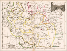 Central Asia & Caucasus, Middle East and Persia Map By George Louis Le Rouge