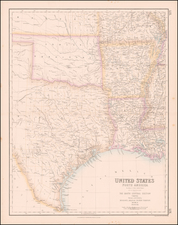 South, Texas and Plains Map By Archibald Fullarton & Co.