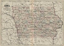 Plains Map By Alvin Jewett Johnson