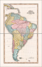 South America Map By Henry Schenk Tanner