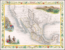 Mexico, California and Texas  (with Gold Rush Vignette) By John Tallis
