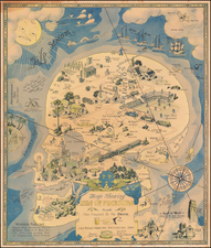 Pictorial Maps and Curiosities Map By Henry Jefferson (Heinie) Lawrence