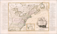 United States and American Revolution Map By Jean Lattré