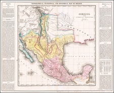Texas, Plains, Southwest, Rocky Mountains, Mexico and Baja California Map By Henry Charles Carey  &  Isaac Lea