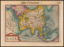 Asia Map By Petrus Bertius