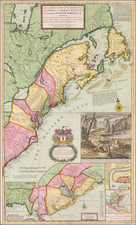 United States, New England, Mid-Atlantic and Southeast Map By Herman Moll