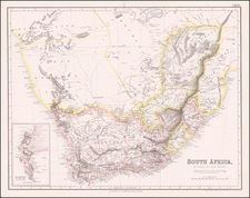 South Africa Map By Archibald Fullarton & Co.