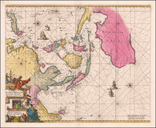 Indian Ocean, China, Southeast Asia, Philippines, Indonesia, Pacific and Australia Map By Frederick De Wit