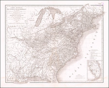 United States Map By Guillaume-Tell Poussin