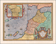 North Africa and West Africa Map By Abraham Ortelius
