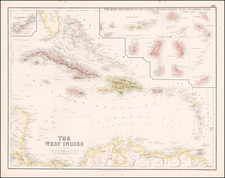Caribbean Map By Archibald Fullarton & Co.
