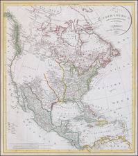 United States, Southeast and North America Map By Christian Gottlieb Reichard