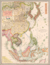 China, Japan, Korea, Southeast Asia, Philippines, Indonesia and Thailand Map By Edward Stanford