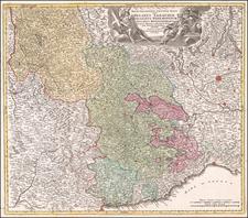Regia Celsitudinis Sabaudicae Status in quo Ducatus Sabaudiae Principat. Pedemontium ut et Ducatus Montisferrati . . . By Johann Baptist Homann
