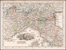 Northern Italy Map By George Louis Le Rouge