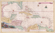 Florida, Caribbean, Cuba, Bahamas, Central America and Venezuela Map By Gerard Van Keulen