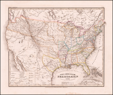 United States and Texas Map By Joseph Meyer