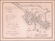 New England, Massachusetts and Boston Map By Thomas Johnson