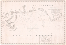 Florida, South, Louisiana and Alabama Map By E & GW Blunt
