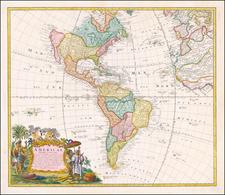 America Map By Homann Heirs / Johann Matthaus Haas