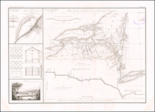 New York State Map By Guillaume-Tell Poussin