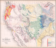 United States Map By William Hemsley Emory