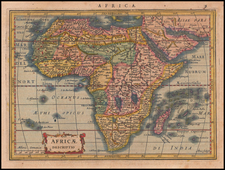 Africa Map By Jodocus Hondius / Gerard Mercator
