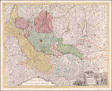 Northern Italy Map By Johann Baptist Homann