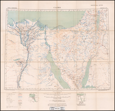 Holy Land, Arabian Peninsula and Egypt Map By Geographical Section, War Office (UK)
