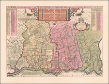 Pennsylvania and Philadelphia Map By George Willdey / Thomas Holme
