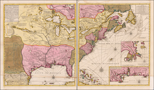United States, New England, Southeast, Midwest and Plains Map By Gerard Van Keulen