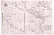 Florida, Baja California, Cuba, Bahamas, Central America, Colombia and California Map By Robert Dudley
