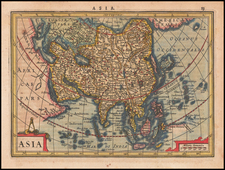 Asia Map By  Gerard Mercator