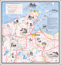 Wisconsin and Pictorial Maps Map By Ashland Chamber of Commerce
