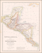 Mexico and Central America Map By Archibald Fullarton & Co.