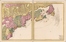 New England, New York State, Mid-Atlantic, Southeast and Canada Map By Peter Schenk / Nicolaes Visscher I