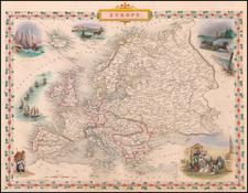 Europe Map By John Tallis