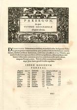 Curiosities Map By Abraham Ortelius