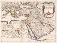 Turkey, Middle East, Arabian Peninsula and Turkey & Asia Minor Map By Nicolas Sanson
