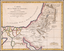 Holy Land Map By Gilles Robert de Vaugondy