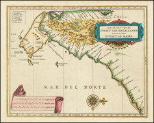Polar Maps, Argentina and Chile Map By Joannes De Laet