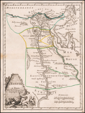 Egypt Map By George Louis Le Rouge