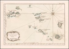 Virgin Islands and Other Islands Map By Jacques Nicolas Bellin