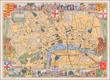 London and Pictorial Maps Map By John Bartholomew
