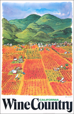 Pictorial Maps, California and Travel Posters Map By Earl Thollander
