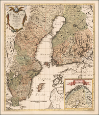Sweden and Finland Map By Georg Biurman